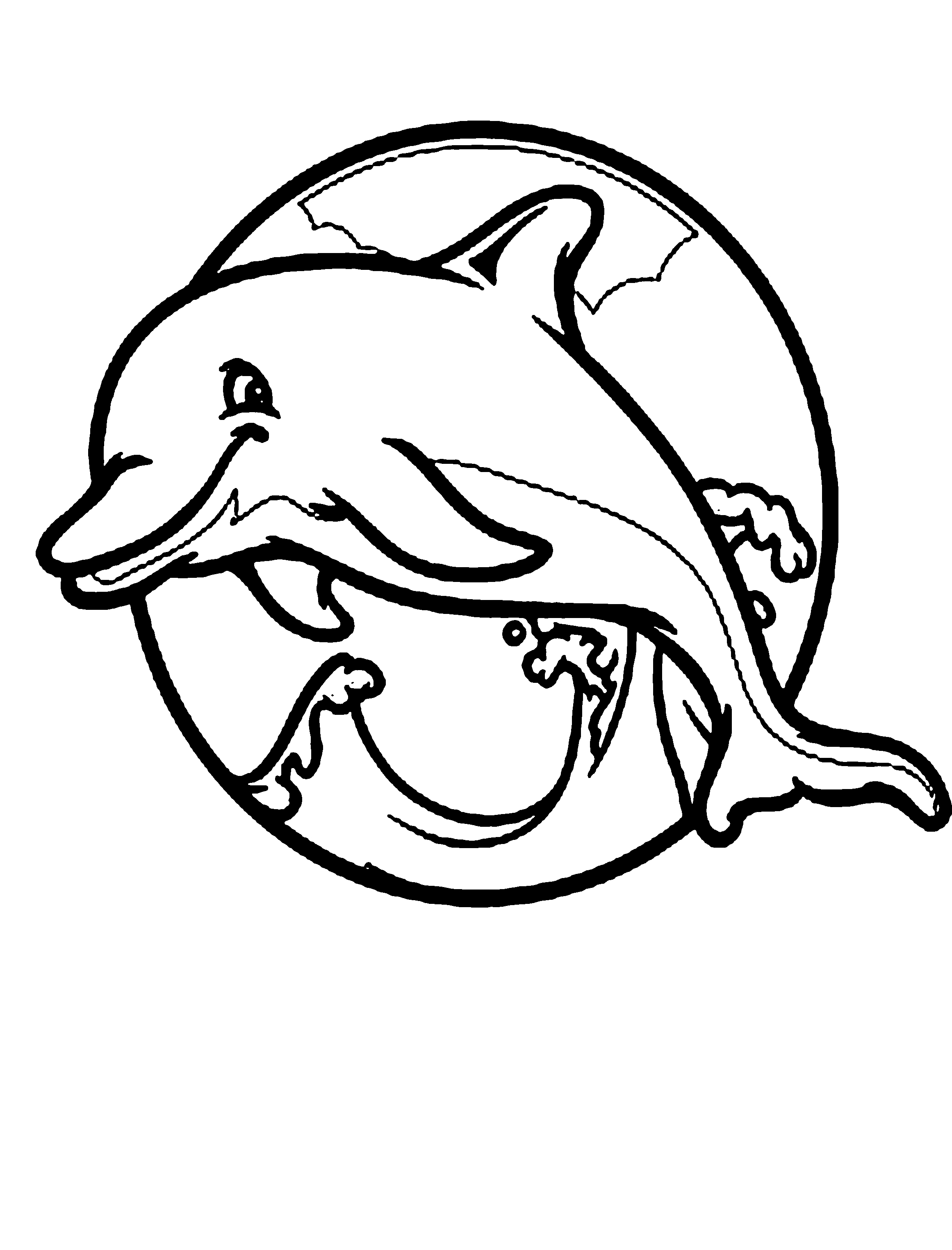dolphin cartoon coloring pages bottlenose dolphin drawing at getdrawings free download cartoon dolphin pages coloring