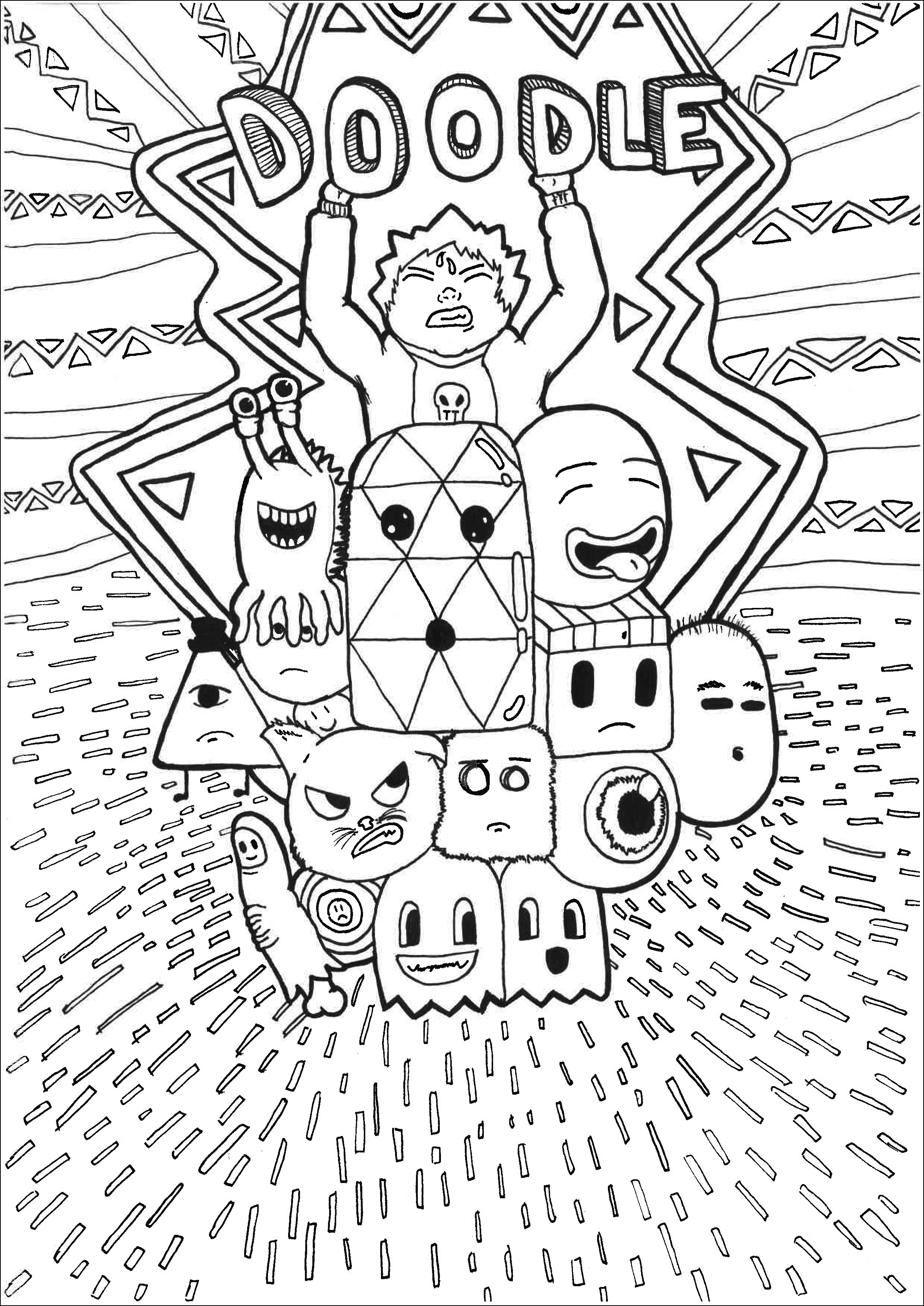 doodle coloring pages coloring pages printable doodles kids coloring home doodle coloring pages