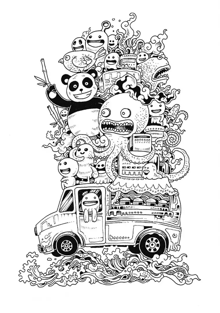 doodle coloring pages doodle art free to color for kids doodle art kids doodle pages coloring