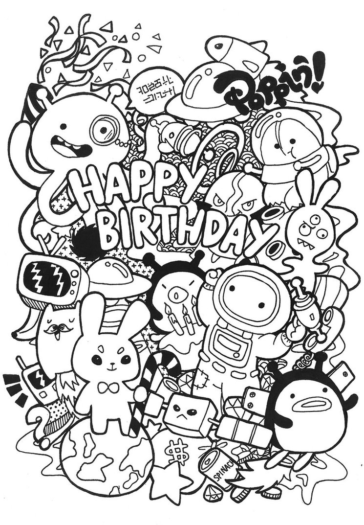 doodle coloring pages doodle monster ii graffitipicart coloring pages doodle