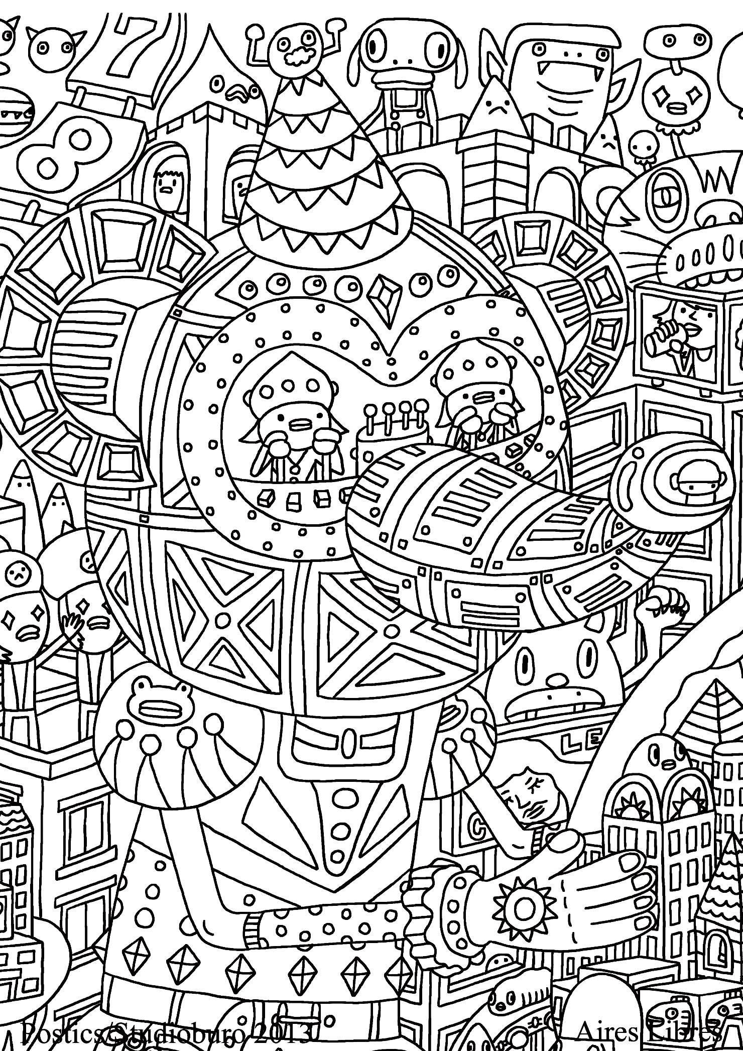 doodle coloring pages sweet doodle colouring page by pound key on deviantart coloring doodle pages
