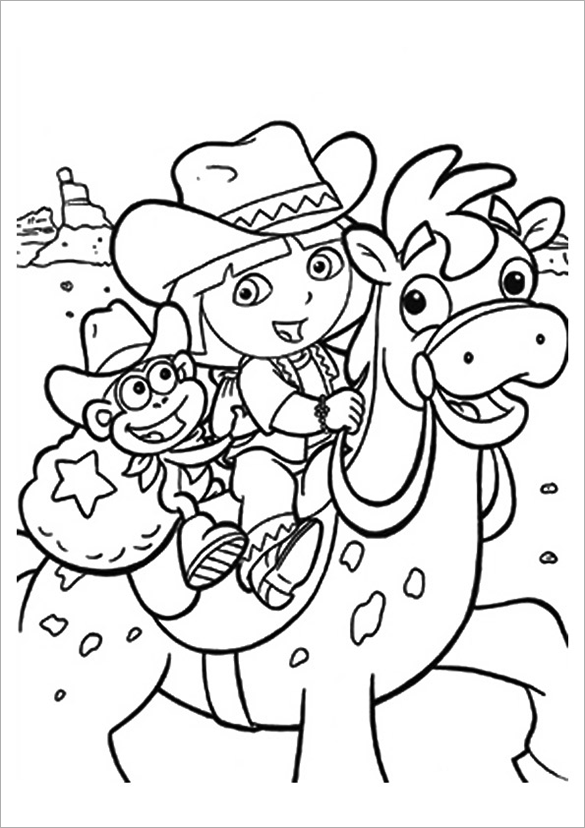 dora coloring page 19 dora coloring pages pdf png jpeg eps free dora page coloring