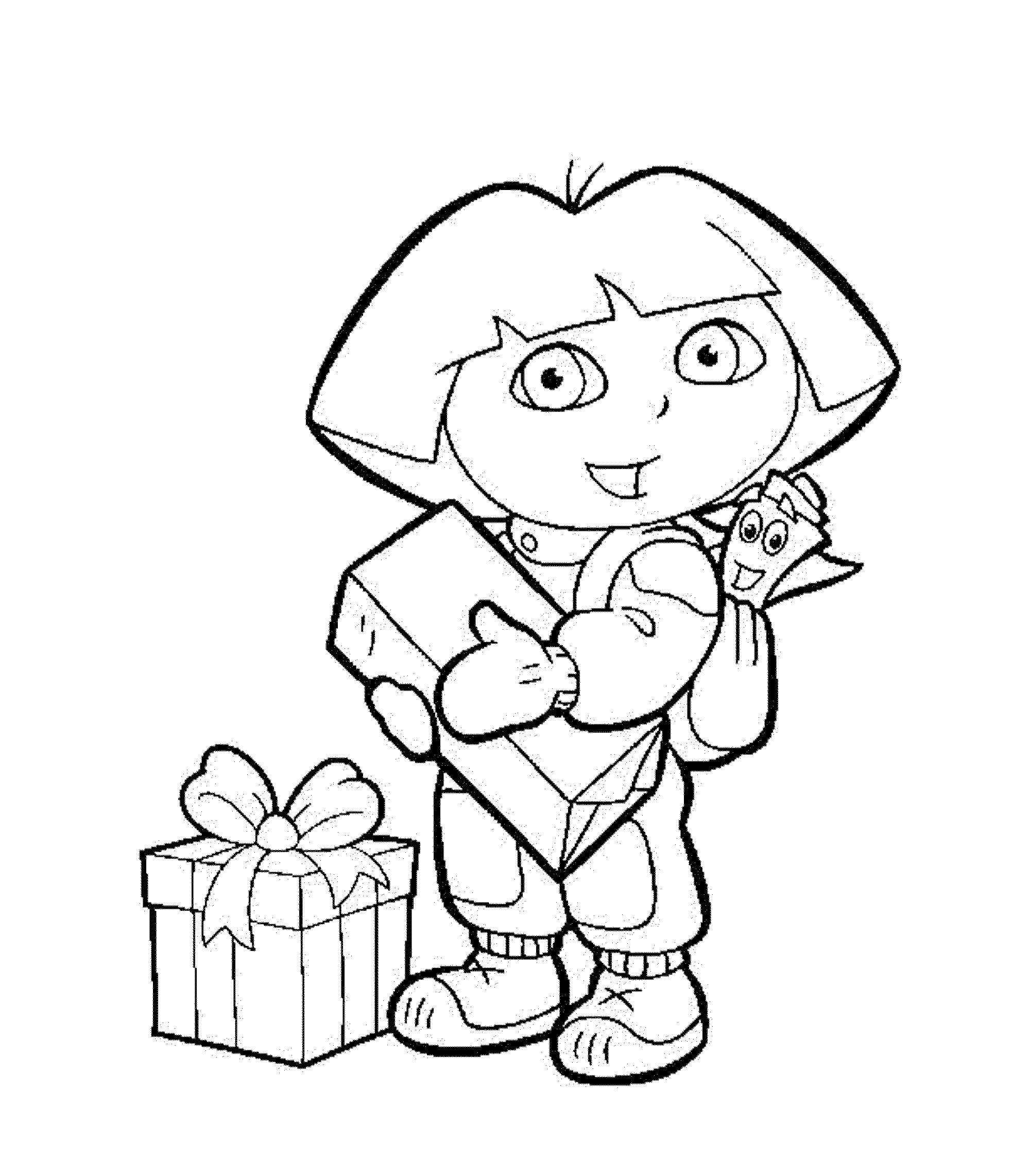 dora coloring page dora the explorer coloring pages learny kids dora coloring page