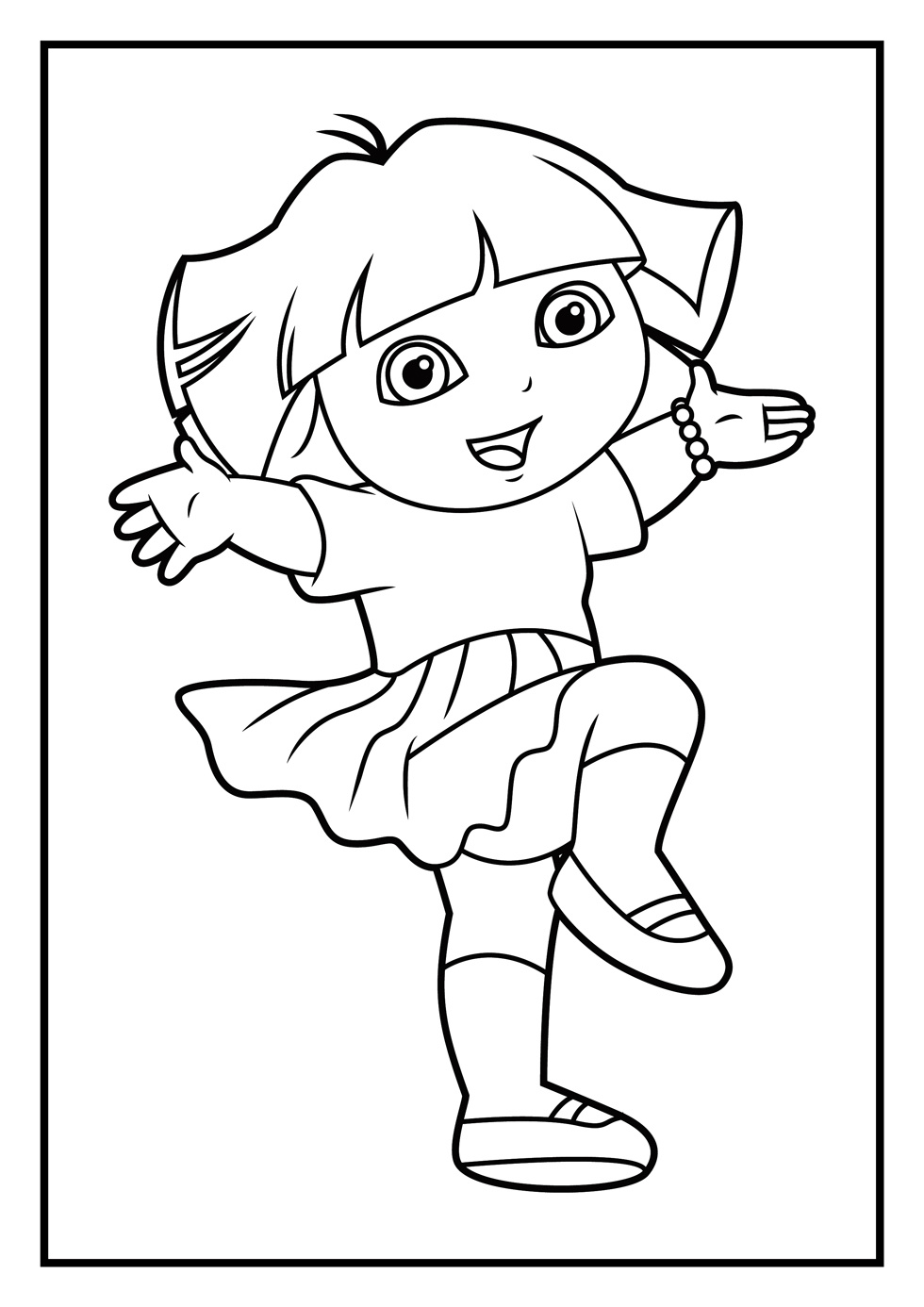 dora coloring page print download dora coloring pages to learn new things coloring dora page