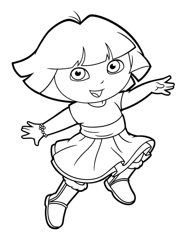 dora coloring page print download dora coloring pages to learn new things coloring dora page 1 1
