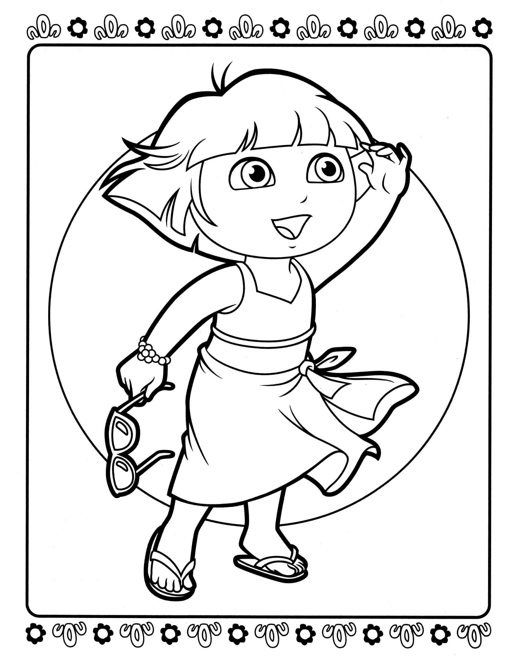 dora coloring page print download dora coloring pages to learn new things coloring page dora