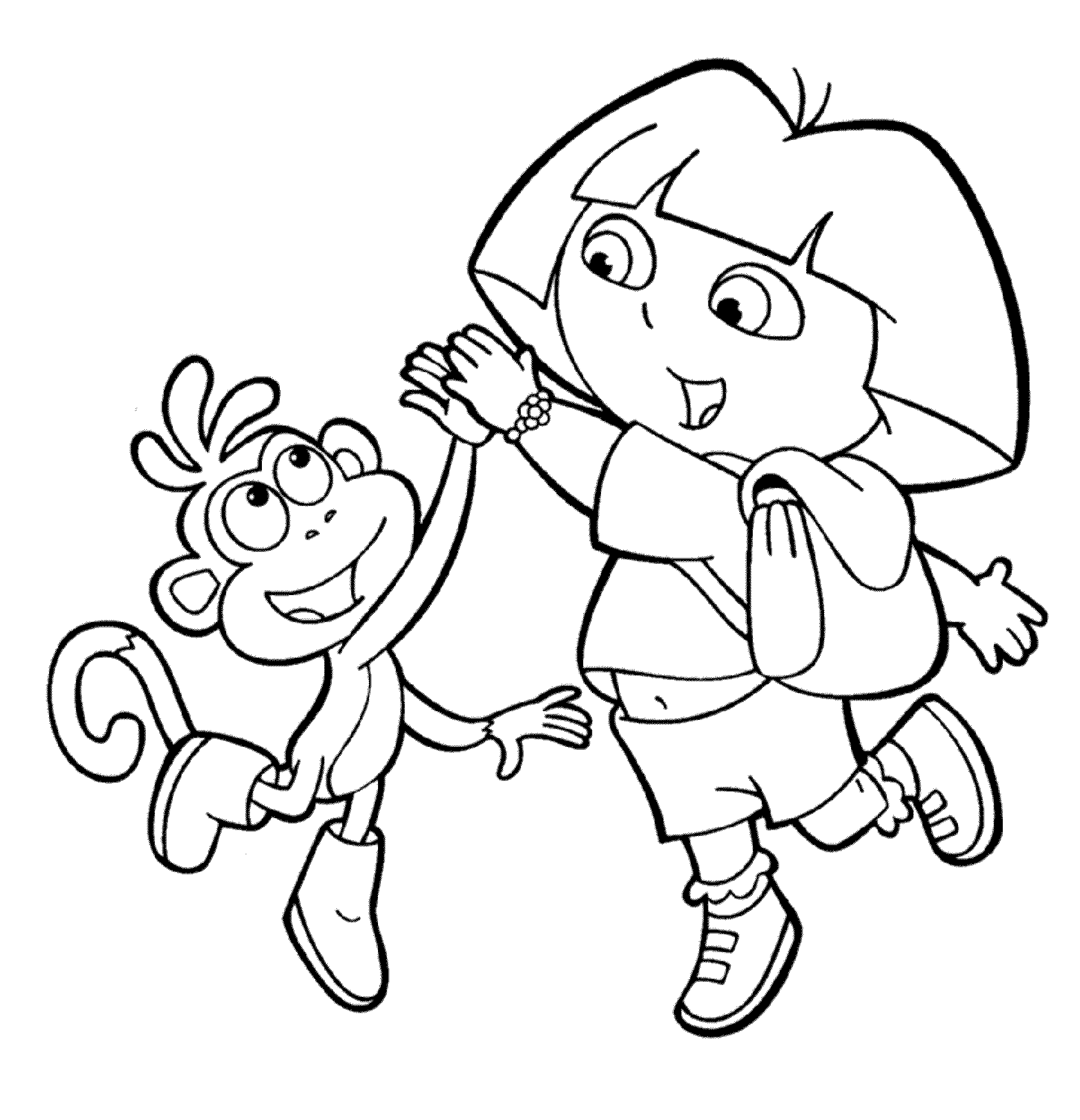 dora colouring print download dora coloring pages to learn new things dora colouring 1 3