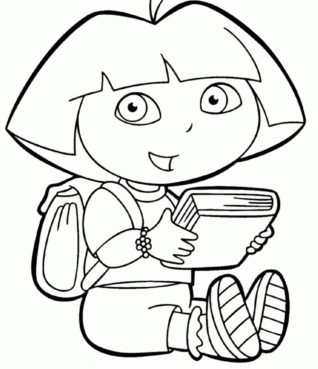 dora printables coloring dora the explorer boots coloring pages for kids halloween coloring dora printables