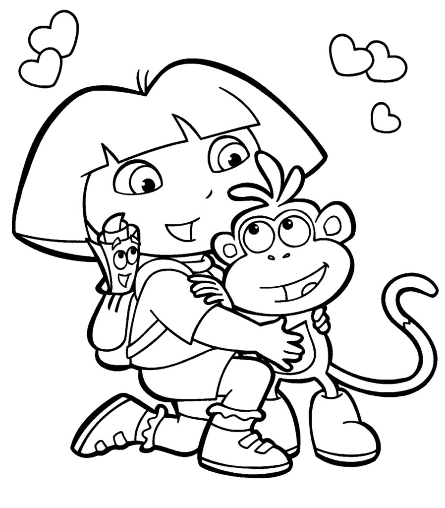 dora printables coloring the best free dora coloring page images download from 884 coloring dora printables