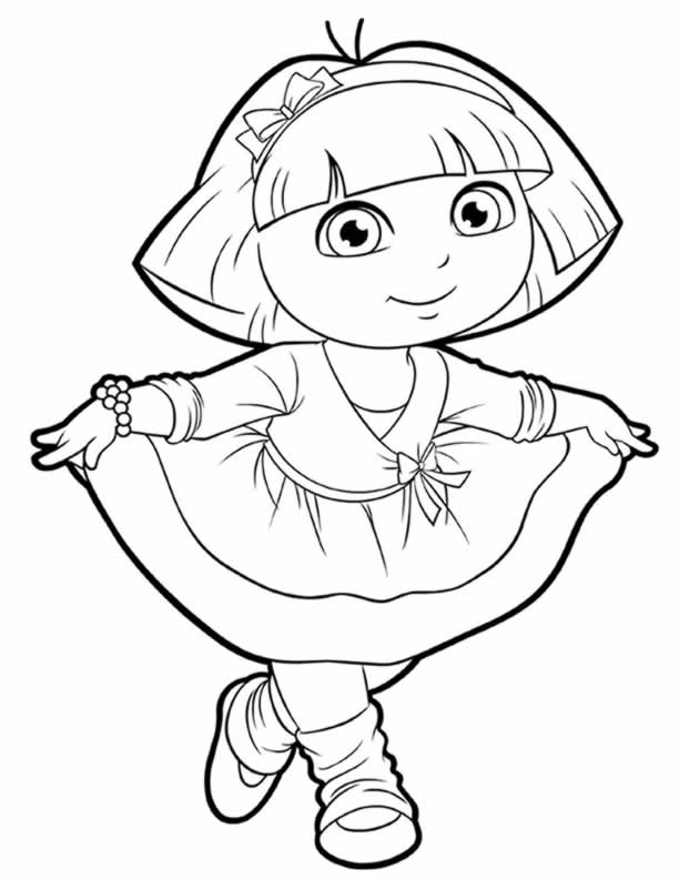 dora the explorer images to print dora coloring lots of dora coloring pages and printables to the explorer print images dora