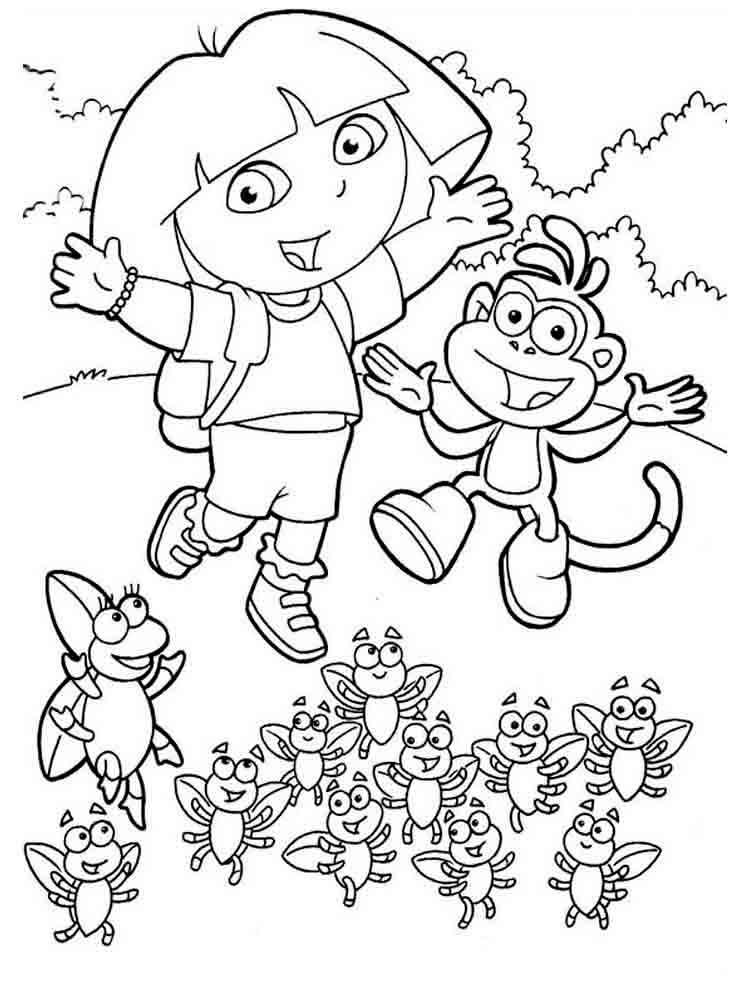 dora the explorer images to print dora the explorer coloring pages download and print dora to print explorer images the dora