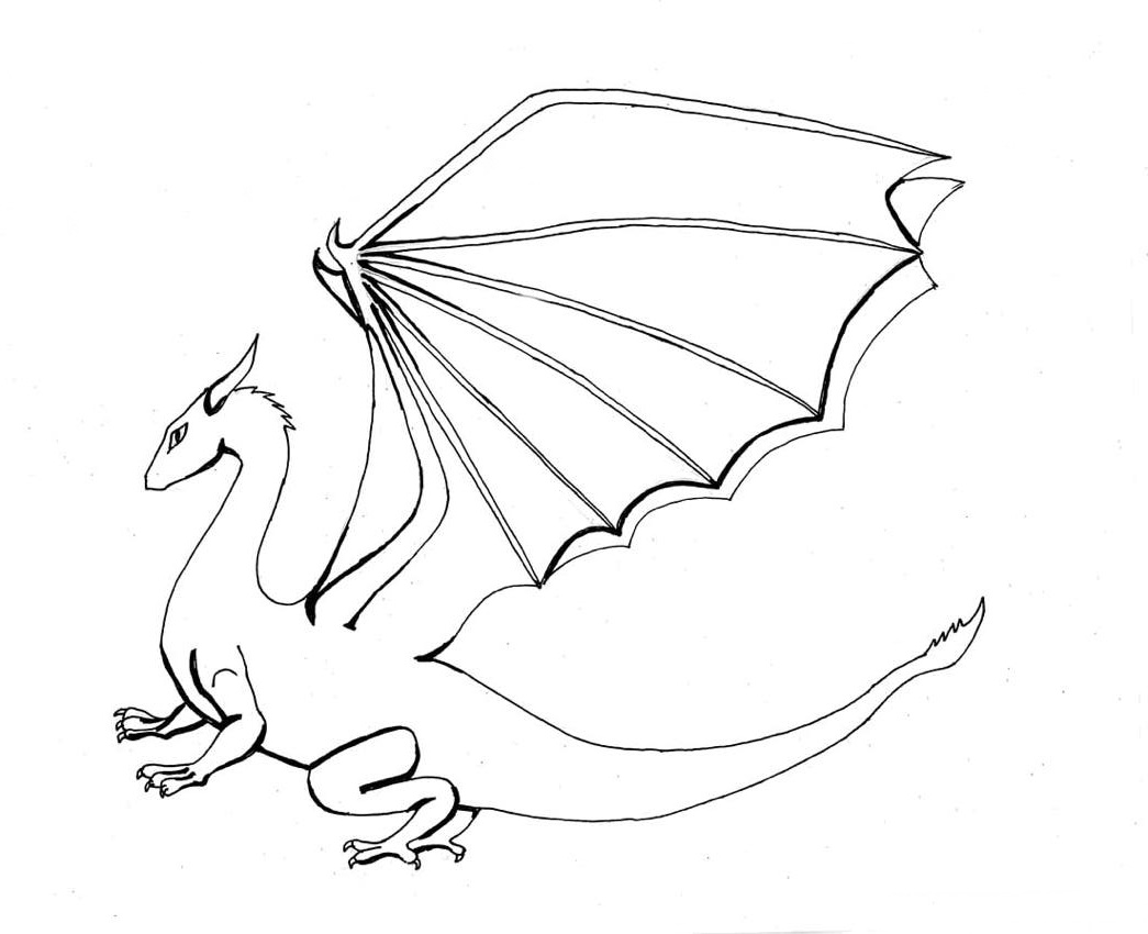 dragon drawing easy cool drawing of dragons at getdrawings free download easy dragon drawing