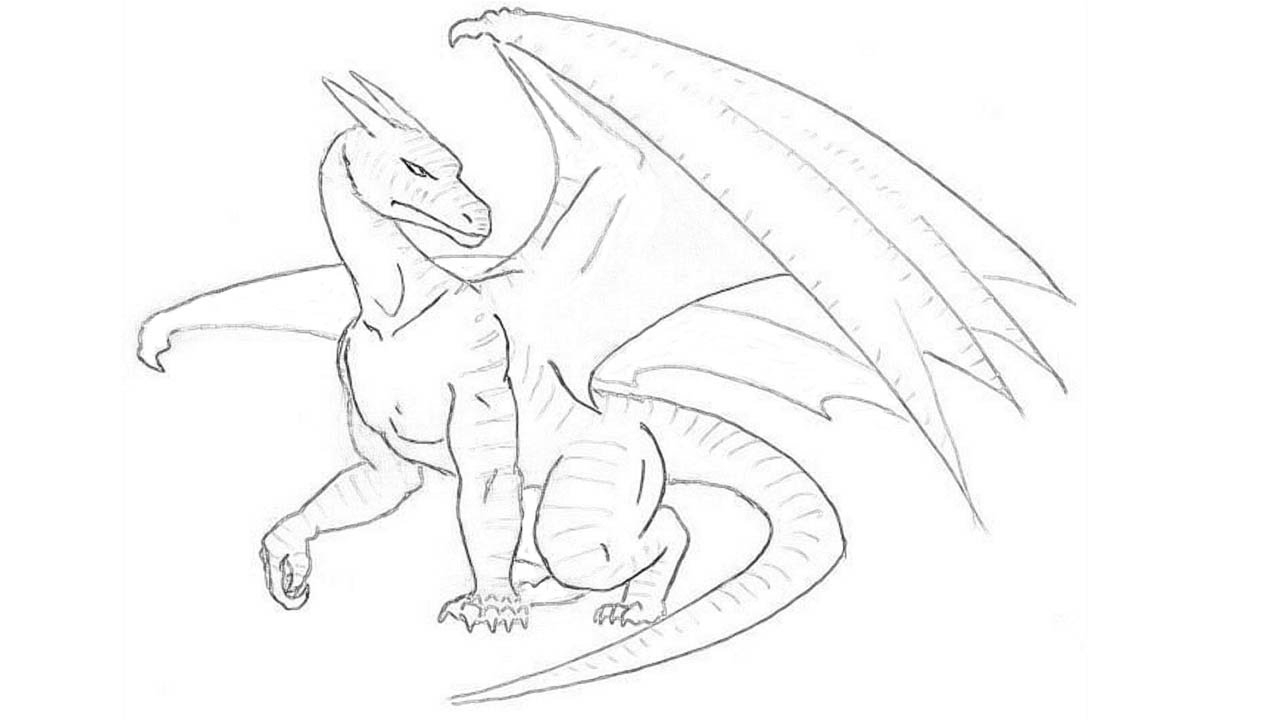 dragon drawing easy easy dragon drawing at getdrawings free download drawing dragon easy
