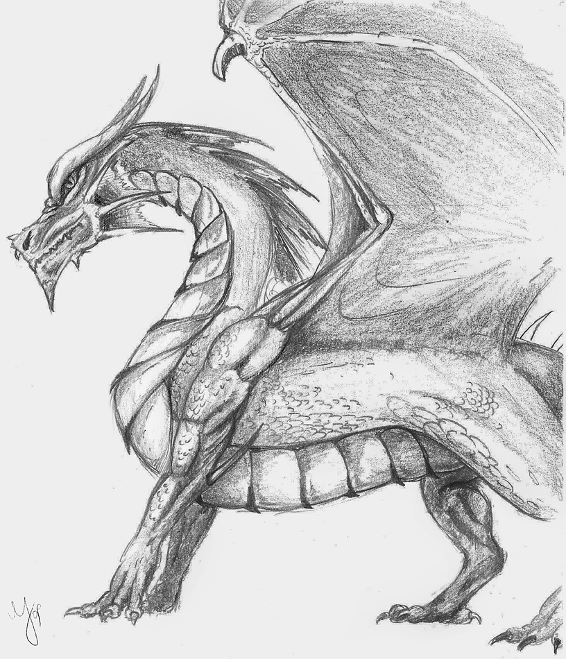 dragon drawing easy pencil drawing of a dragon at getdrawings free download dragon easy drawing