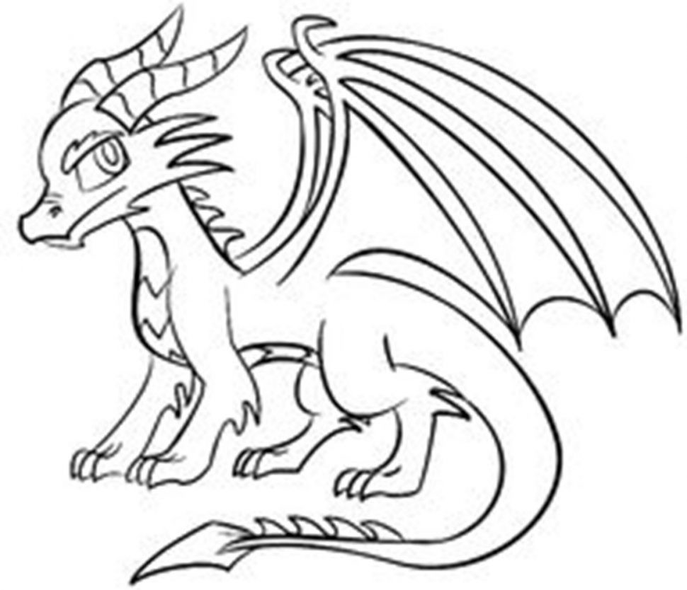 dragon drawing easy simple dragon line drawing at paintingvalleycom explore drawing dragon easy