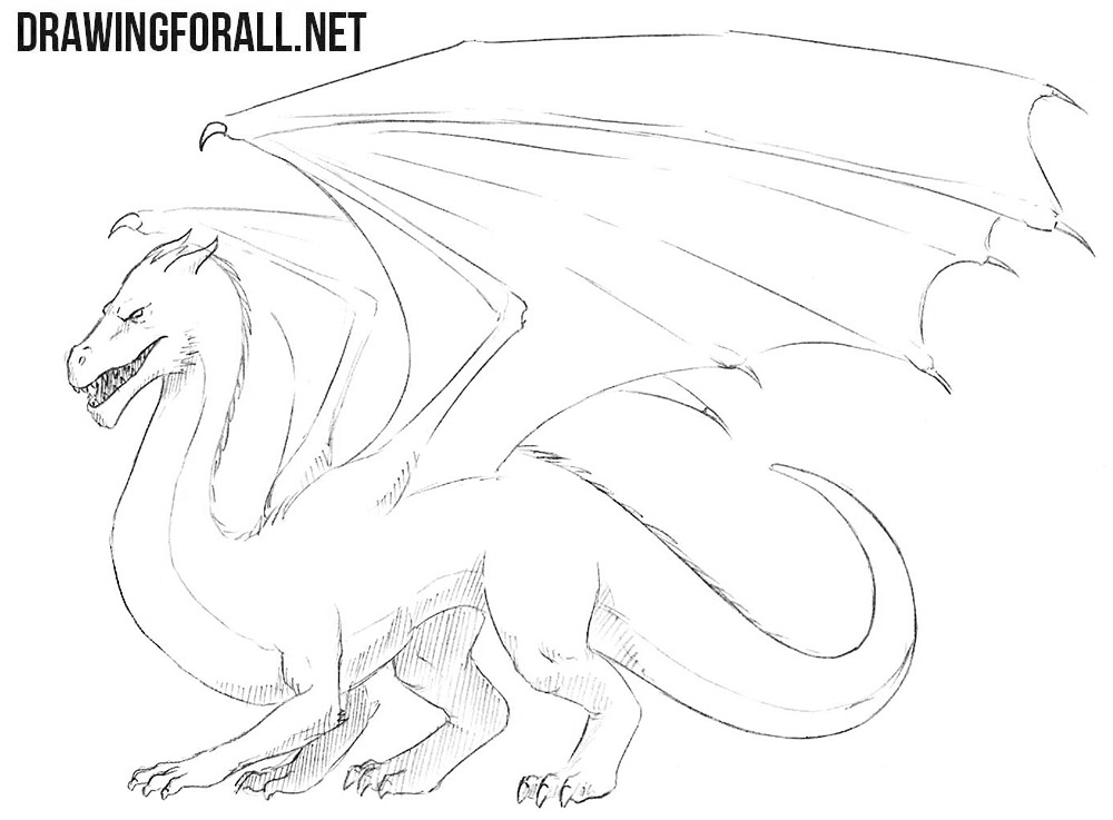 dragon drawing easy simple fire breathing dragon drawing at paintingvalleycom drawing easy dragon