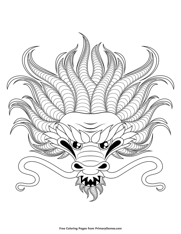 dragon head coloring page dragons head drawing at getdrawings free download head page dragon coloring