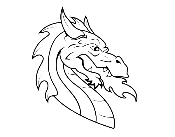 dragon head coloring page skyrim coloring pages at getcoloringscom free printable head page coloring dragon