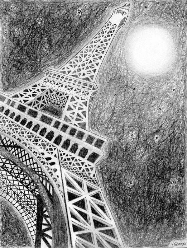 draw a tower 40 easy eiffel tower drawing ideas to try a draw tower