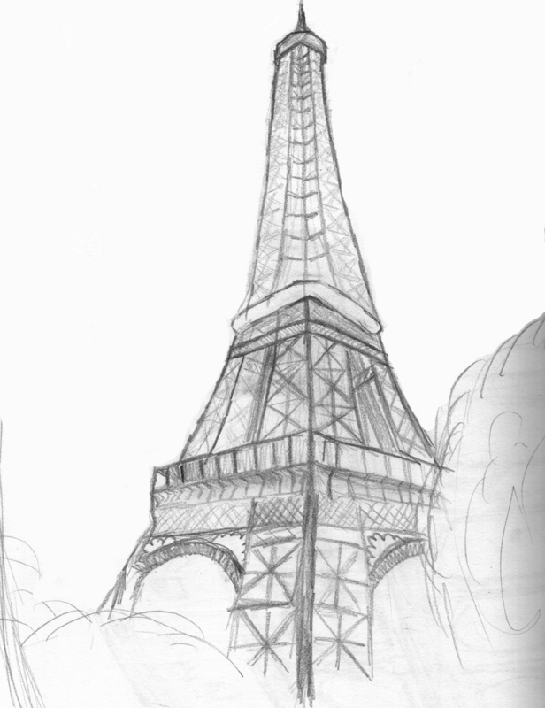 draw a tower 70 easy and beautiful eiffel tower drawing and sketches a tower draw