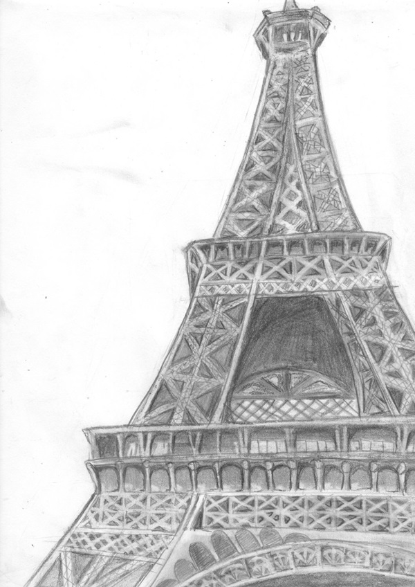draw a tower 70 easy and beautiful eiffel tower drawing and sketches draw tower a