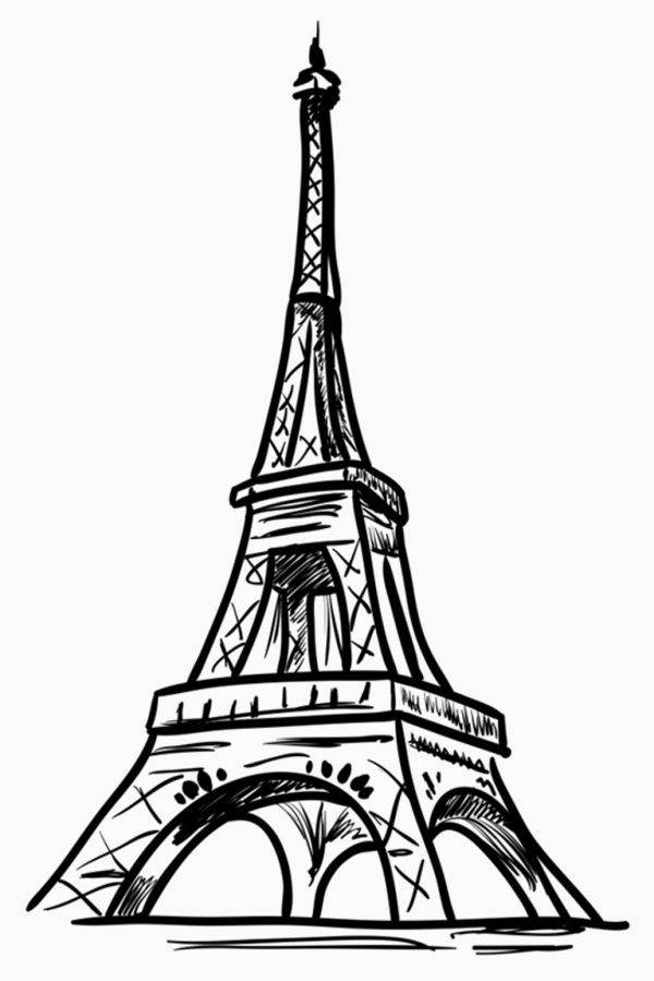 draw a tower eiffel tower drawing for kids free download on clipartmag draw tower a