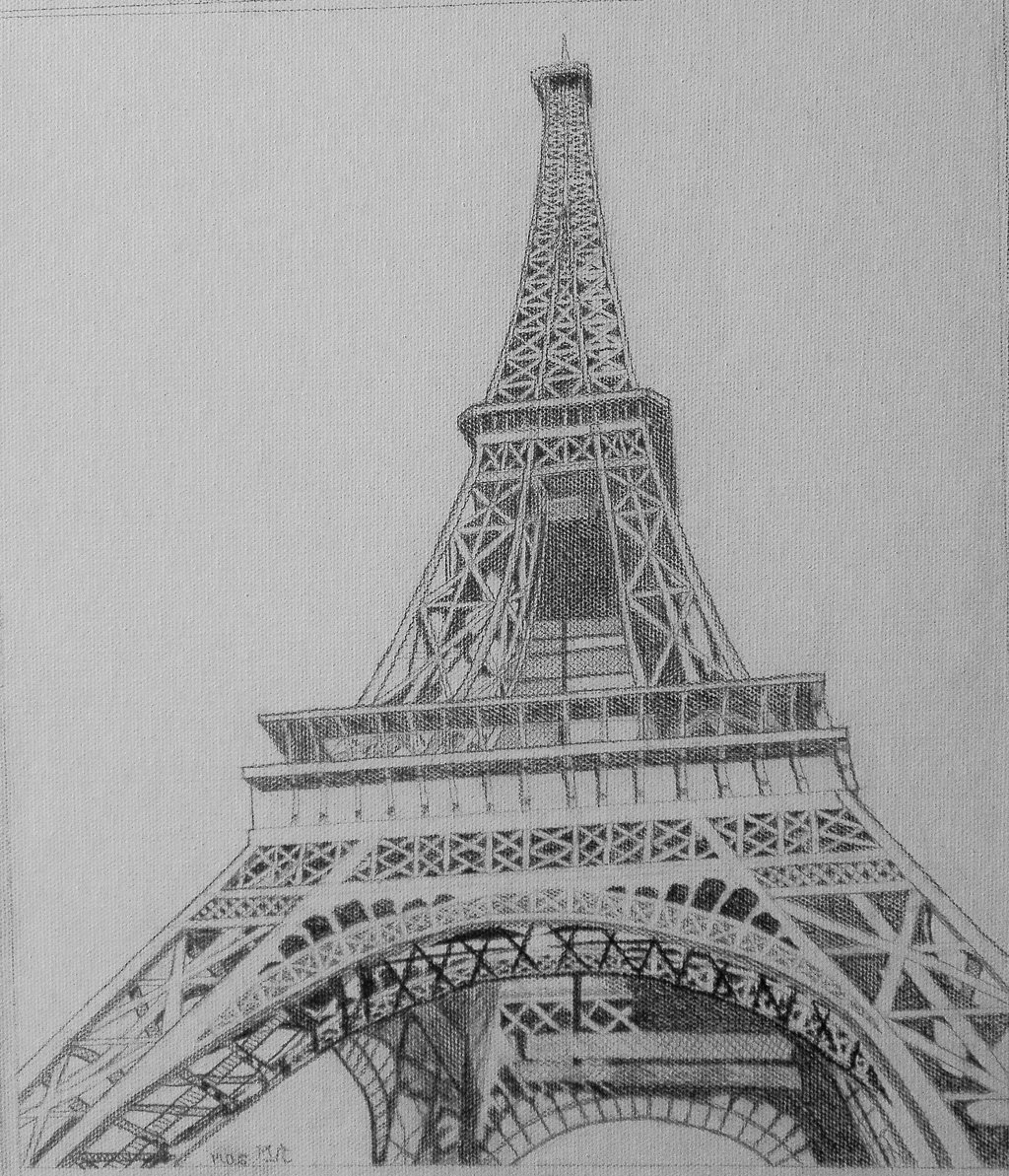 draw a tower eiffel tower picture vintage line drawing the graphics draw tower a