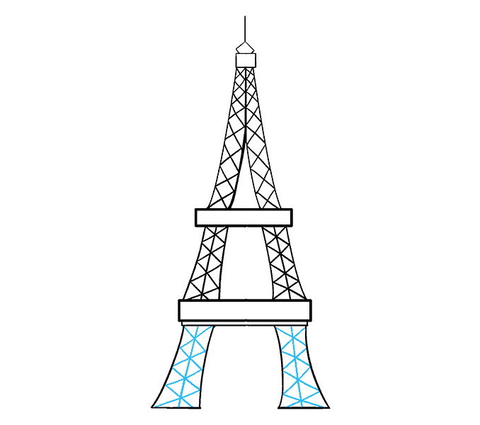 draw a tower how to draw the eiffel tower step by step buildings draw tower a