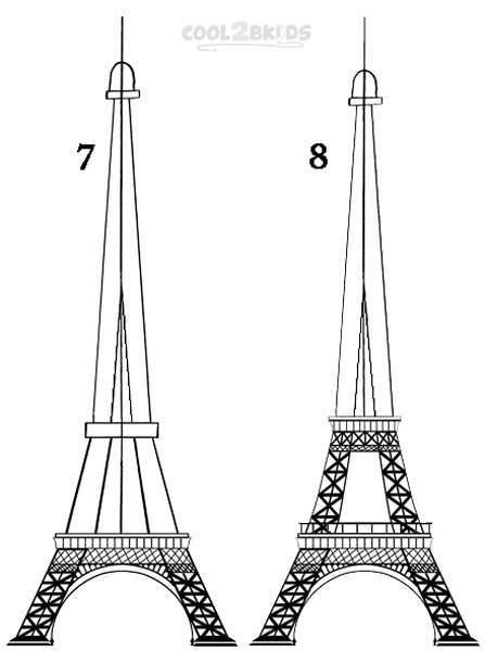 draw a tower how to draw the eiffel tower step by step pictures draw tower a
