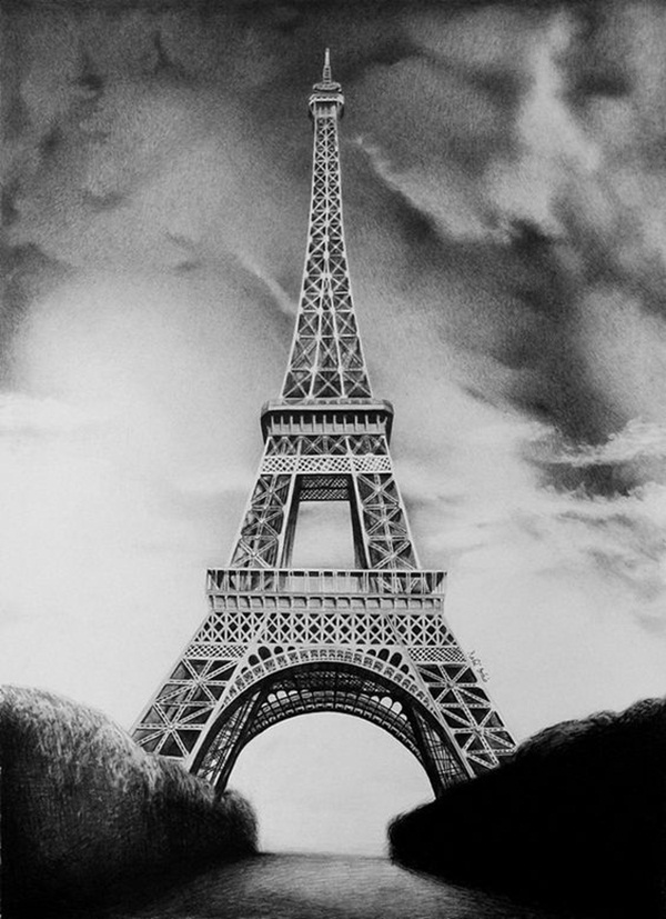 draw a tower learn to draw a cool easy eiffel tower drawing sketch in a tower draw