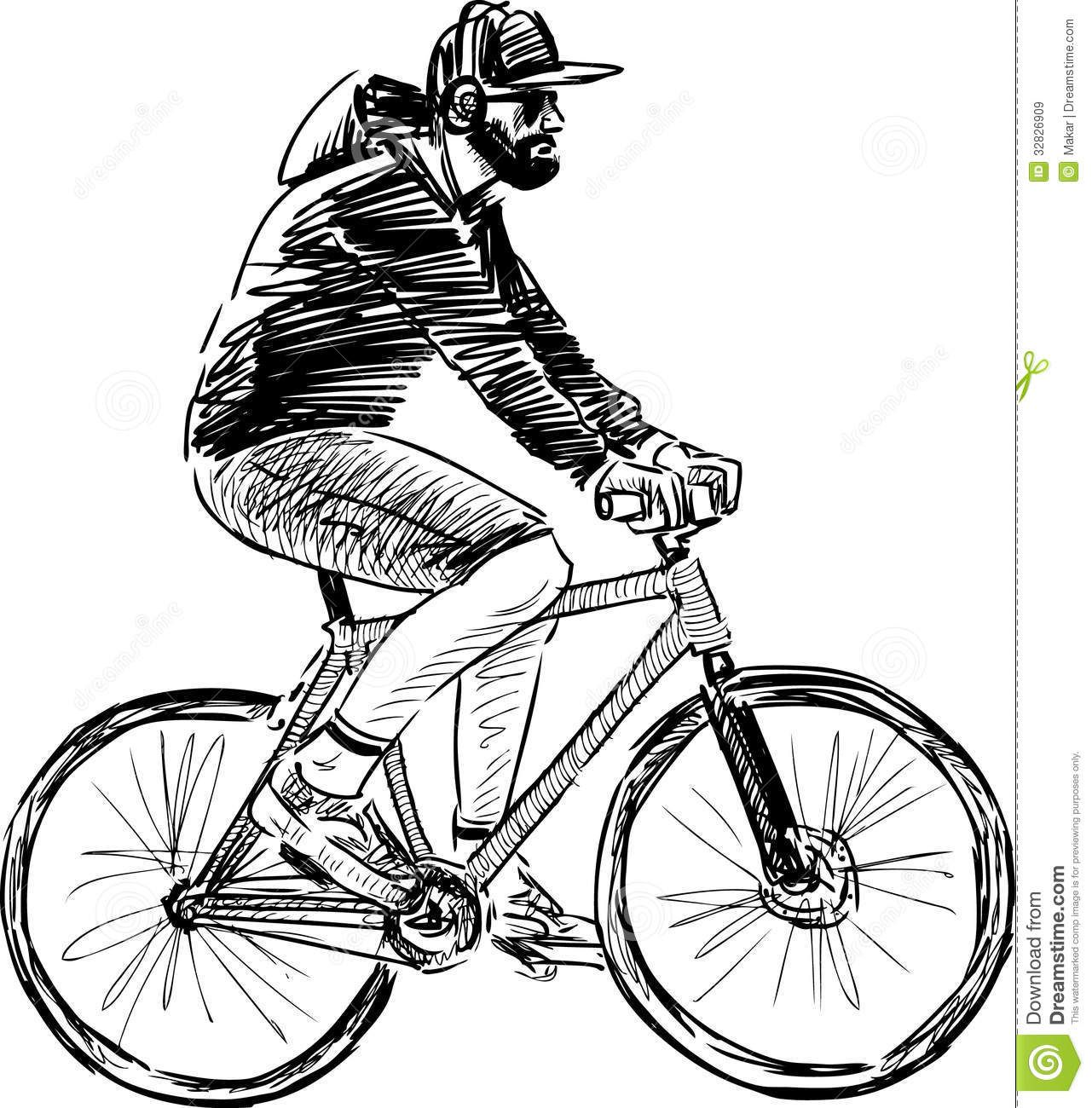 draw bike cyclist sketch at paintingvalleycom explore collection draw bike