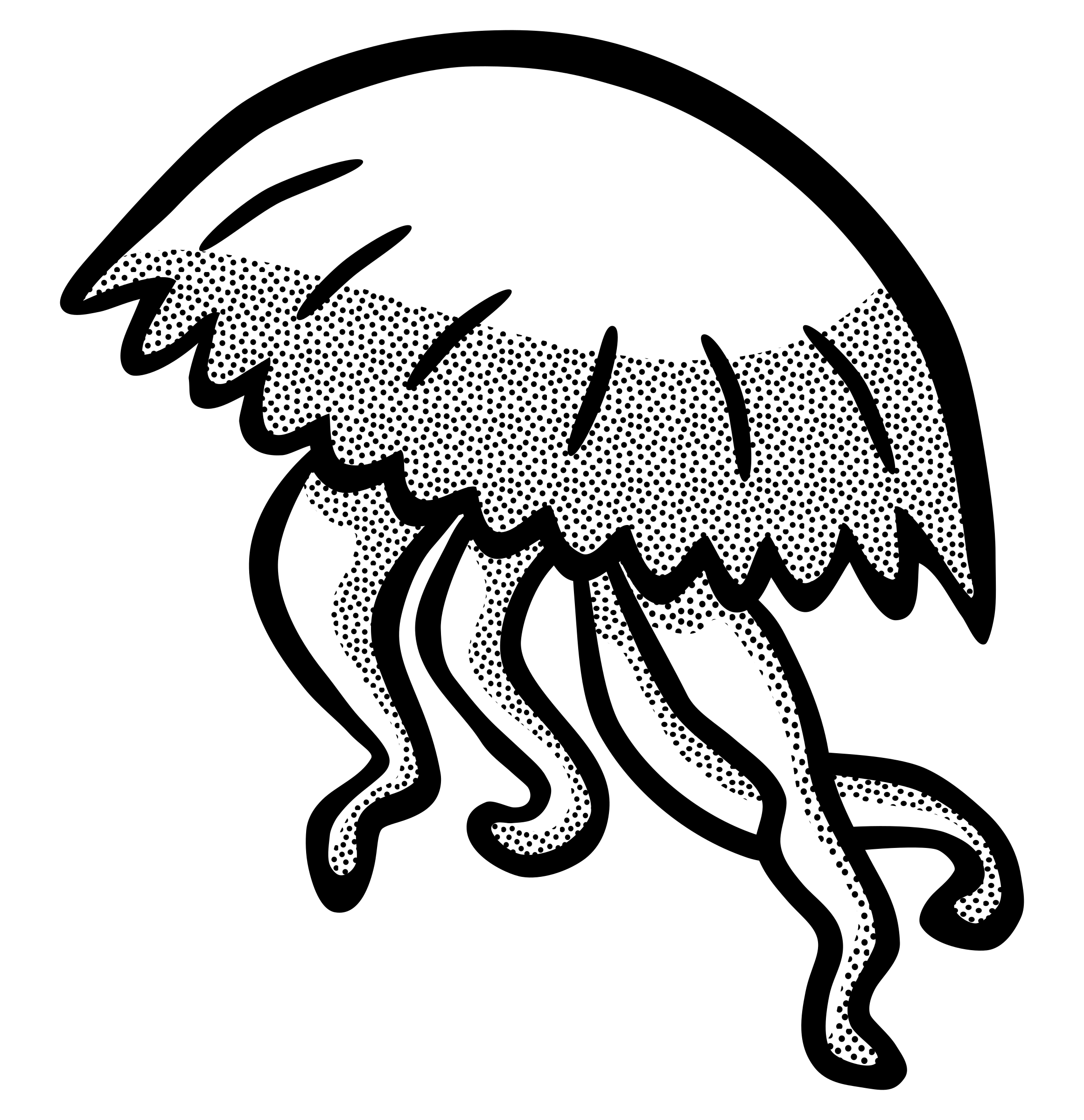 drawing jellyfish get inspired for realistic jellyfish clipart black and drawing jellyfish