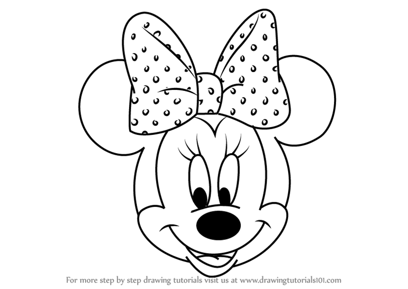 drawing minnie mouse face minnie mouse face drawing at getdrawings free download mouse drawing minnie face