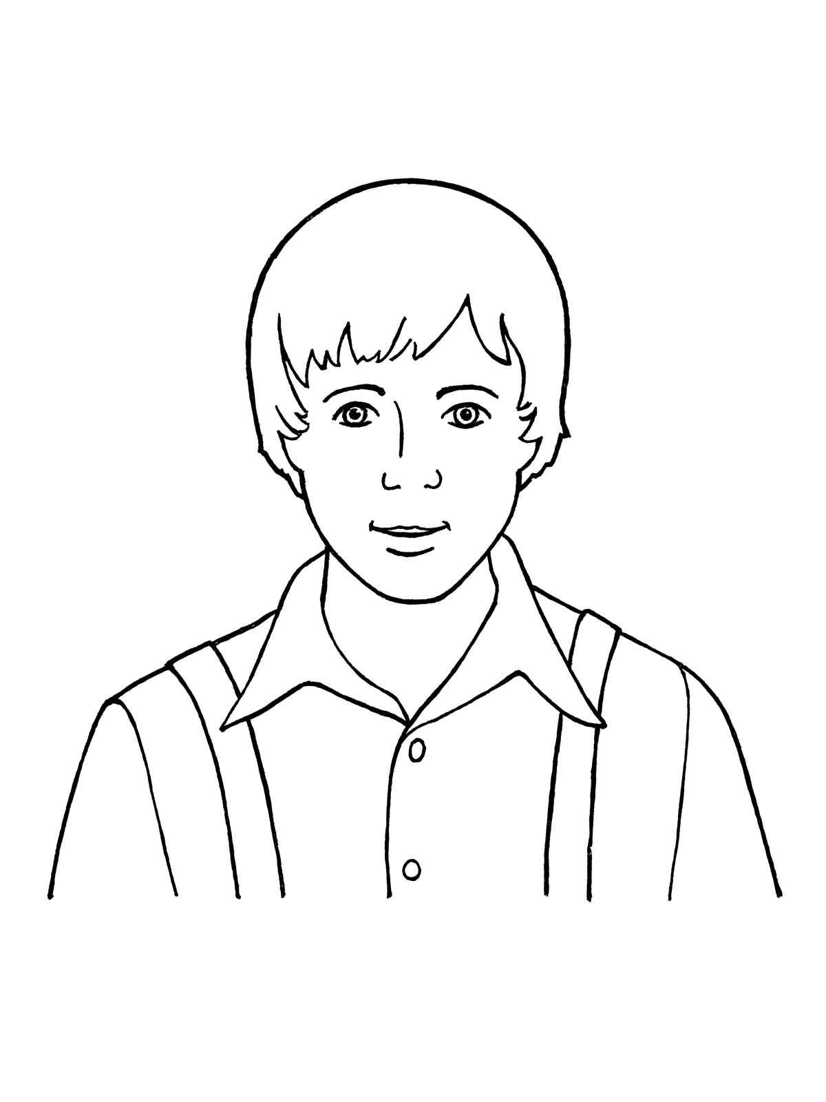 drawing of a boy little boy drawing at getdrawings free download boy a of drawing