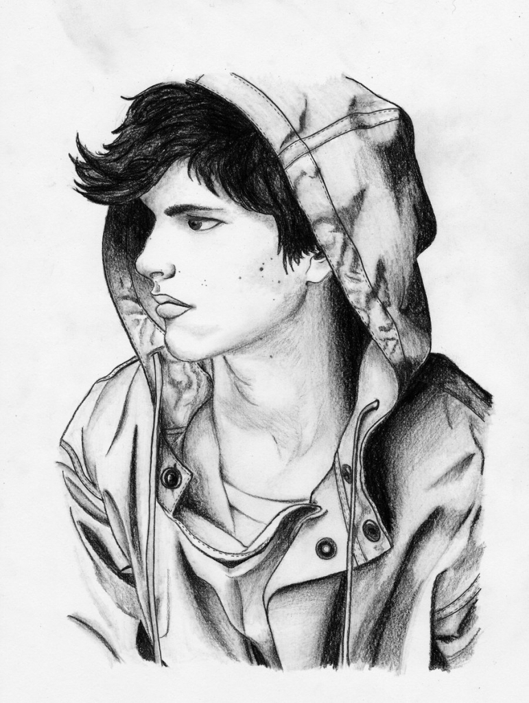 drawing of a boy sad boy sketch at paintingvalleycom explore collection boy drawing a of