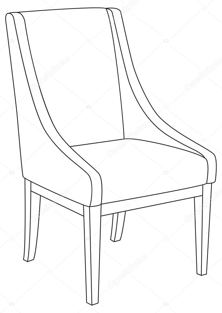 drawing of a chair chair line drawing at getdrawings free download chair a of drawing