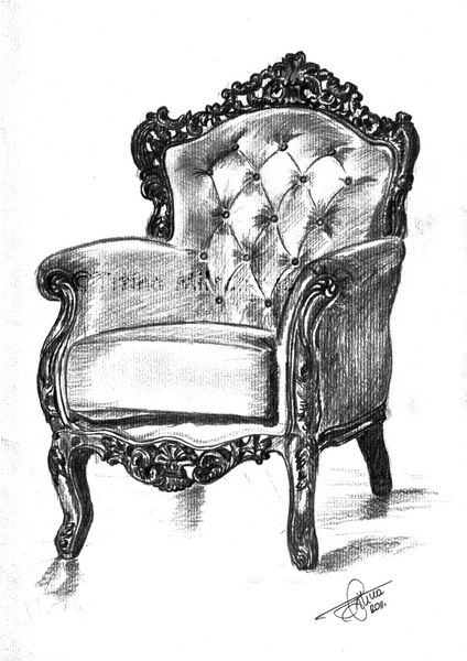 drawing of a chair drawing of a chair a drawing chair of