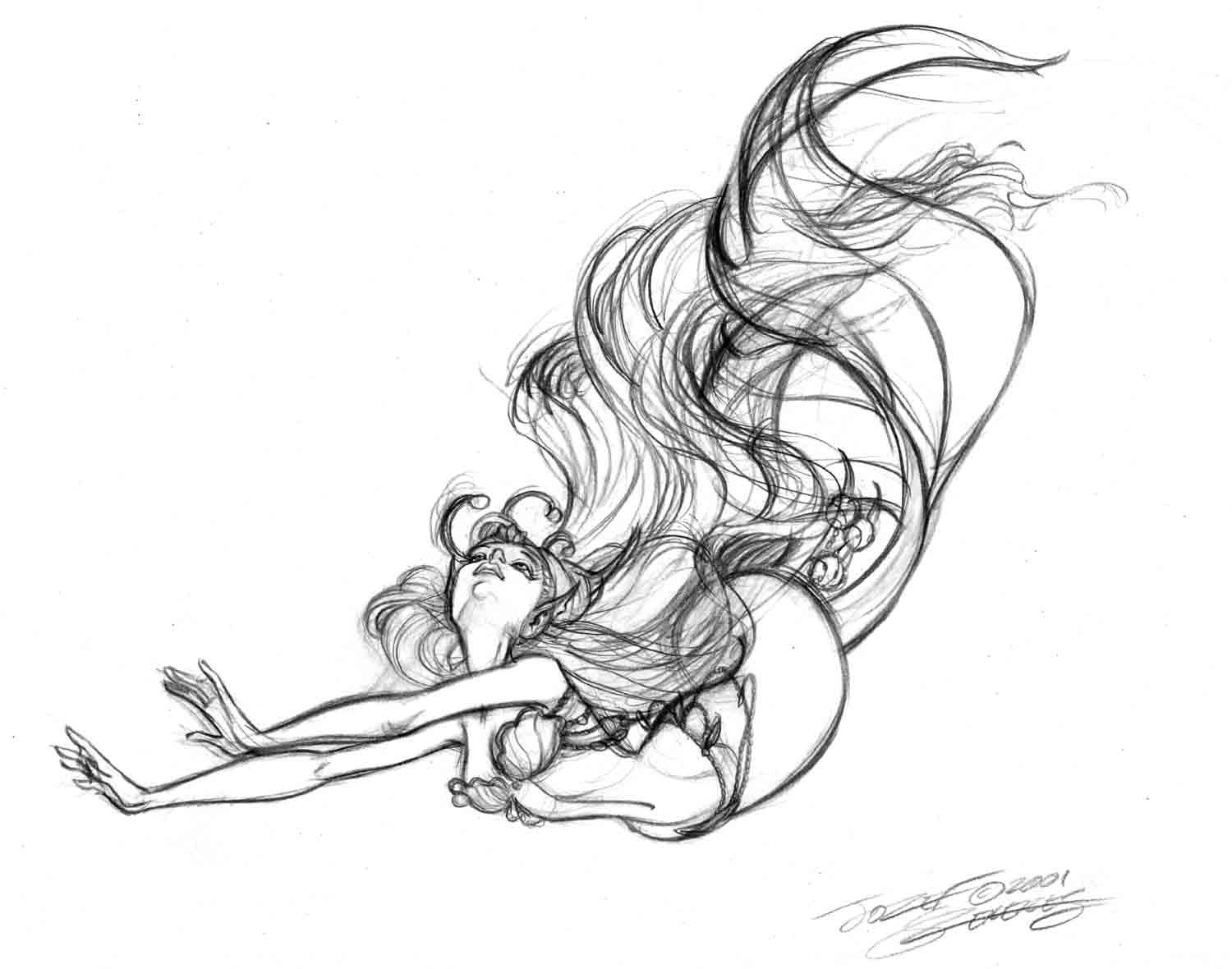 drawing of a mermaid how to draw a cartoon mermaid clipartsco of a mermaid drawing
