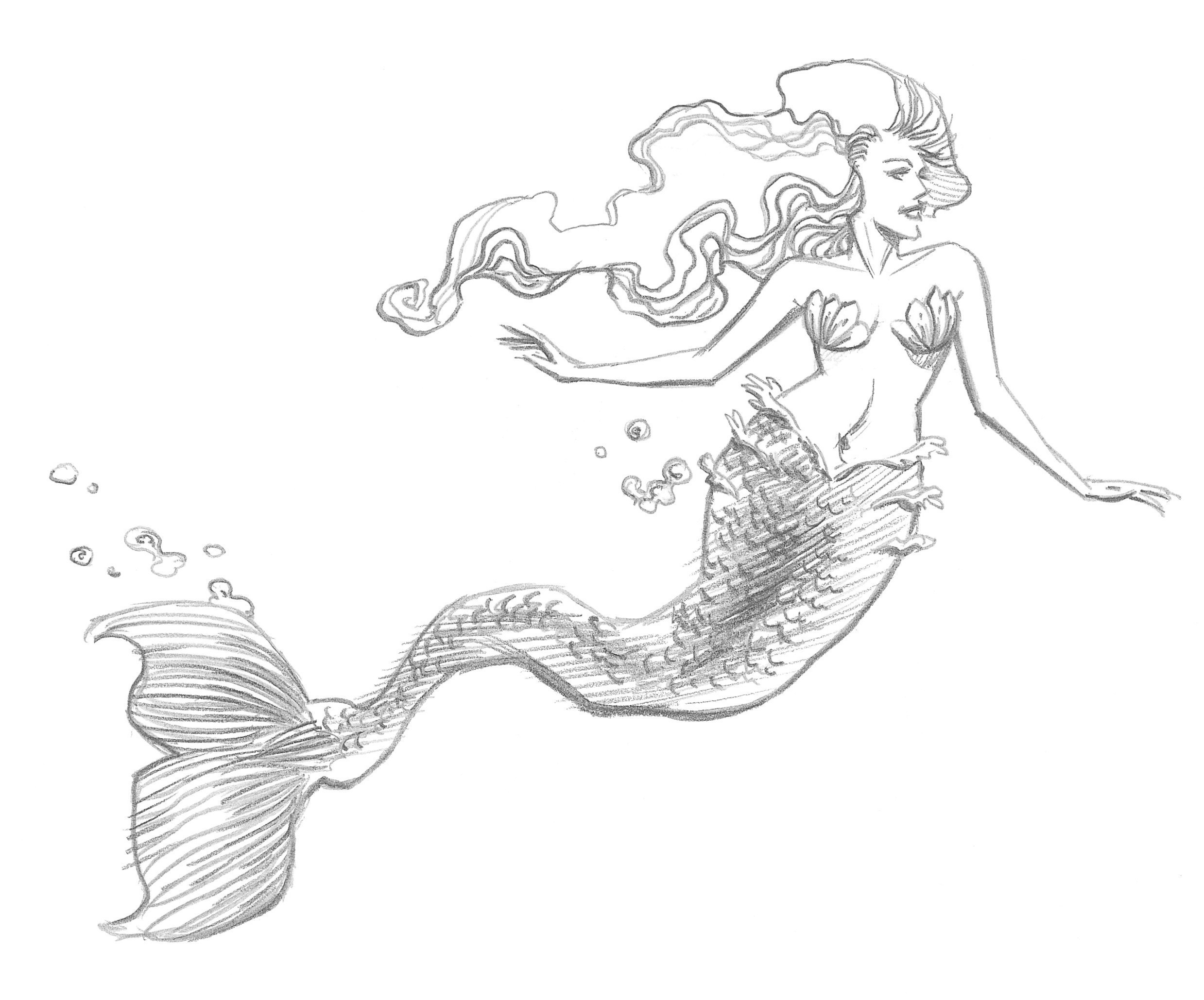 drawing of a mermaid mermaid art by bunnybennett on deviantart of drawing mermaid a
