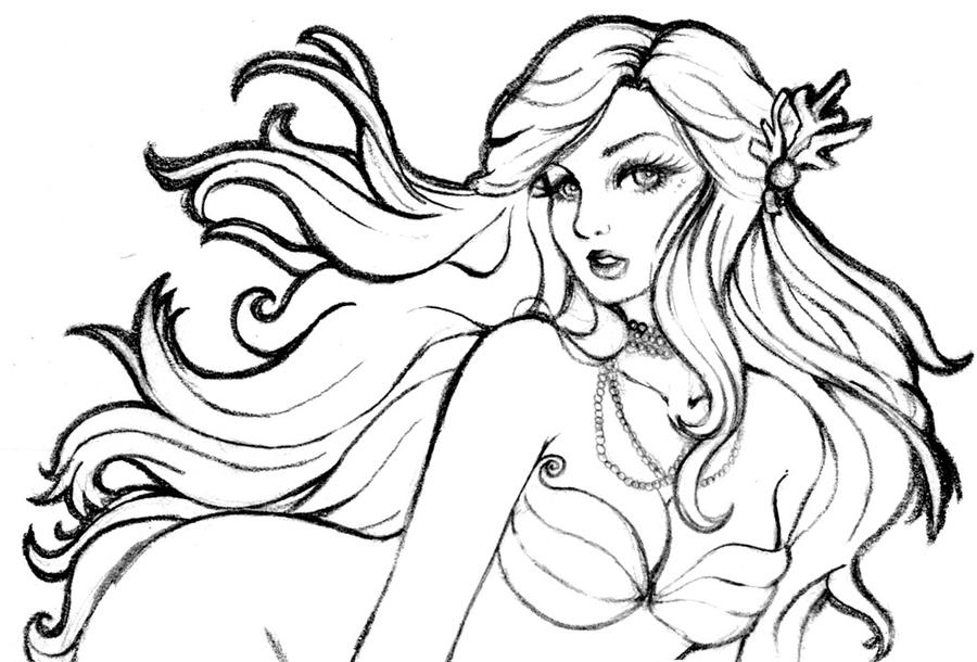 drawing of a mermaid mermaid lineart by hitomi i on deviantart a drawing mermaid of