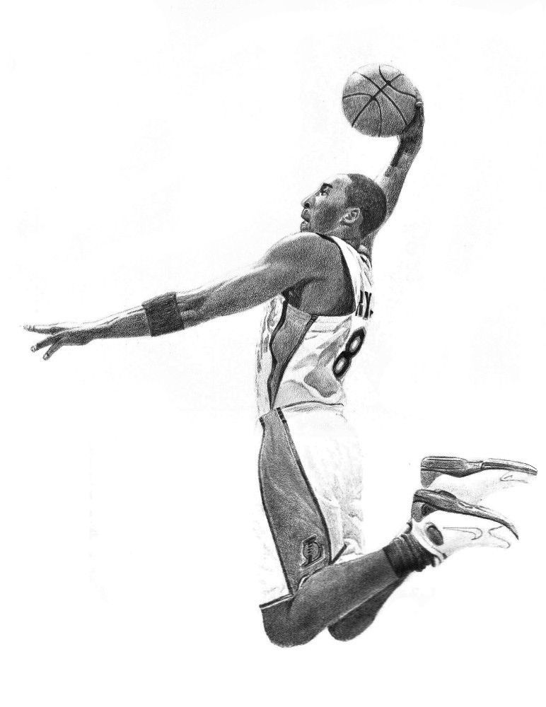 drawings of basketball players basketball player drawing at paintingvalleycom explore players basketball of drawings