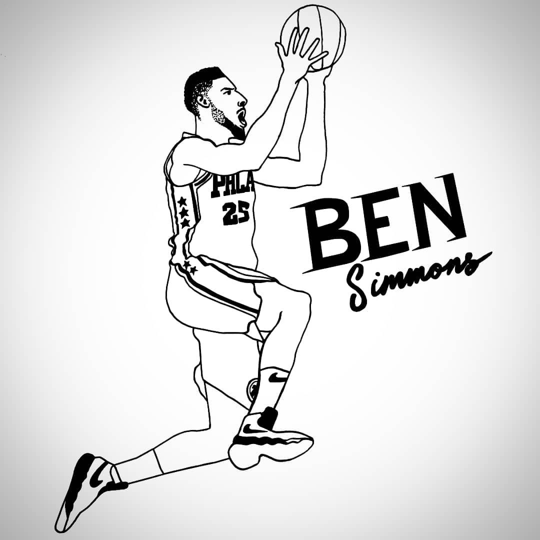 drawings of basketball players can you name the nba players in this illustration quiz of basketball players drawings