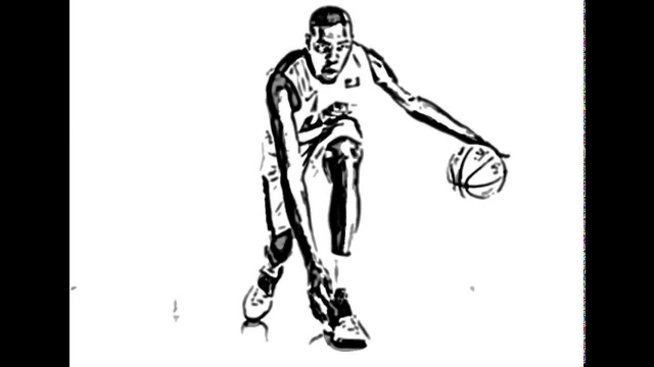 drawings of basketball players how to draw a basketball player sketchbook challenge 49 basketball players of drawings