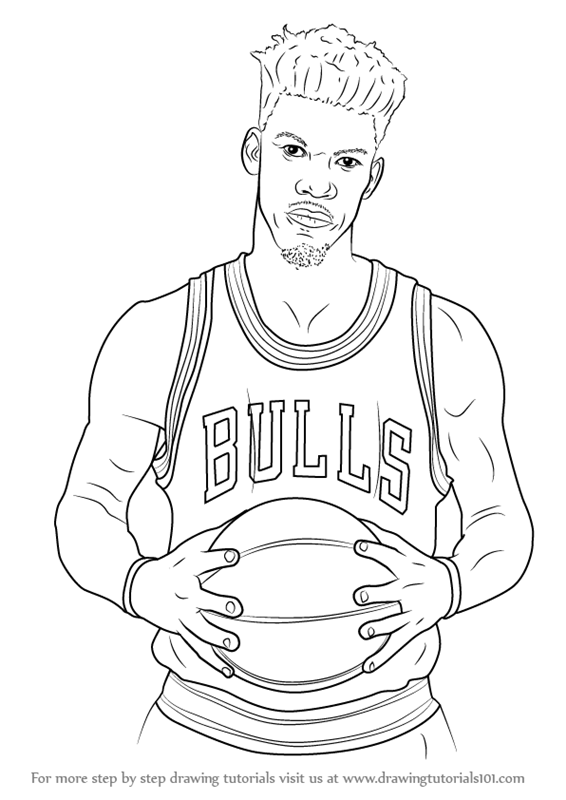 drawings of basketball players learn how to draw jimmy butler basketball players step drawings basketball of players