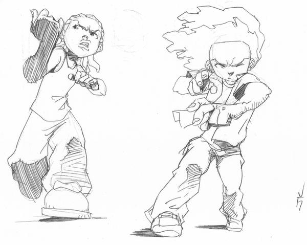 drawings of boondocks characters the boondocks by wolfseye157 on deviantart drawings characters boondocks of