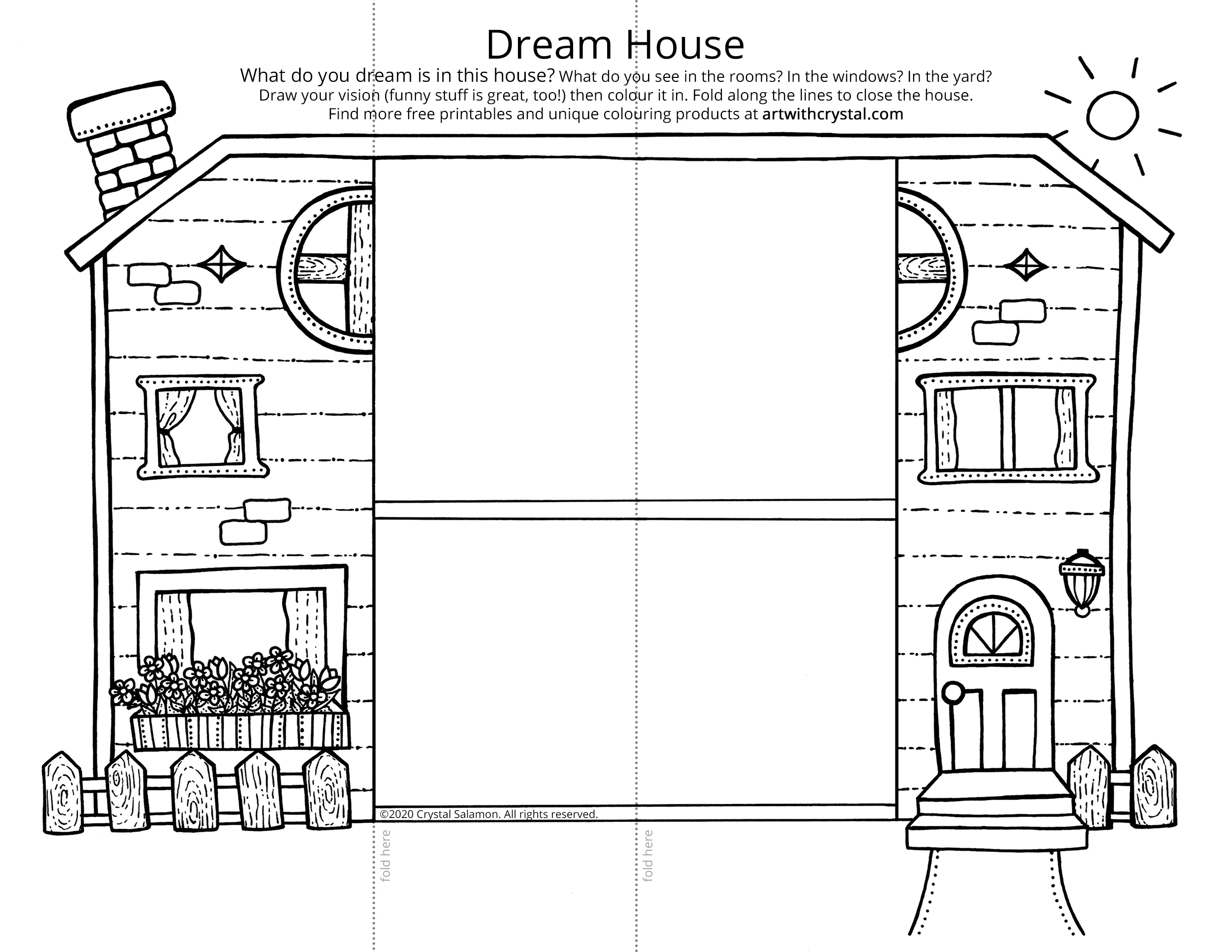 dream house coloring pages dream house free colouring page craft art with crystal coloring house dream pages