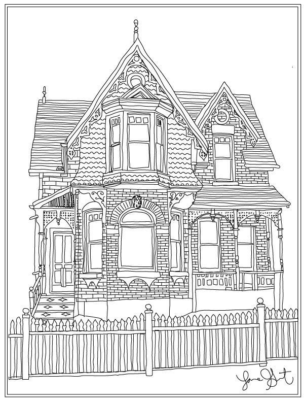 dream house coloring pages houses to color and print for adults girls and kids coloring dream house pages
