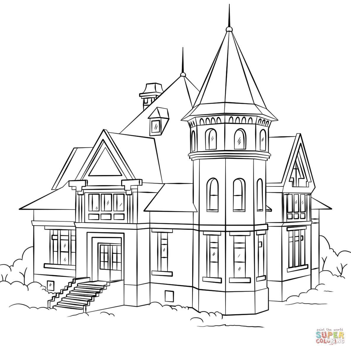 dream house coloring pages inside house coloring pages at getcoloringscom free coloring house dream pages