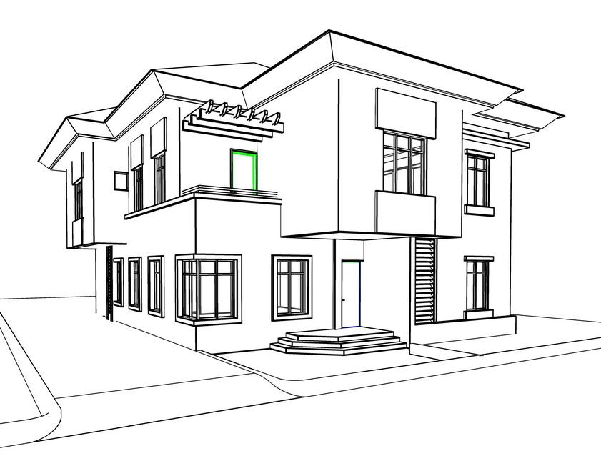 dream house coloring pages modelled in revit architecture rendered with 3ds max and coloring house dream pages