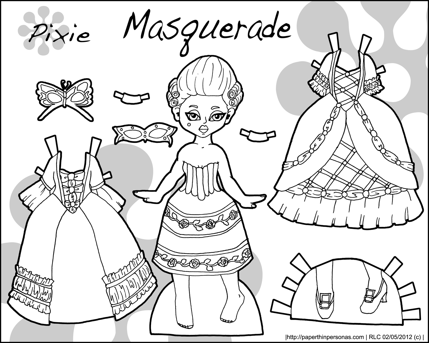 dress up paper dolls printable marisole monday friends zippers ruffles and a new paper printable dress dolls up
